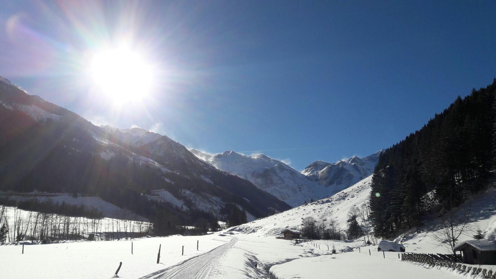 atemberaubende Landschaft im Winter im Käfertal